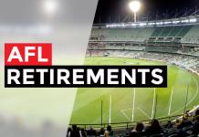 afl retirements
