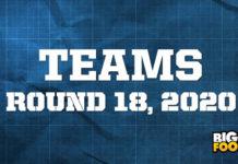 afl teams round 18 2020