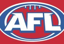 AFL logo on red background