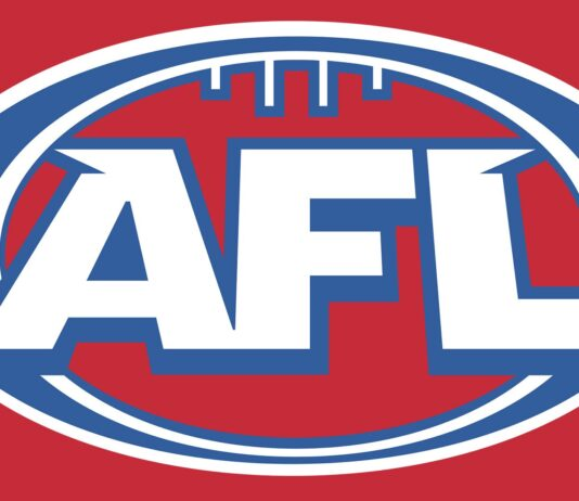 AFL logo on red background